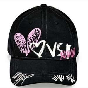 Victoria's Secret Graffiti Hat - Black